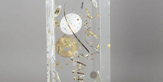 Montre gousset /cristal de synthèse 30x10x10cm
