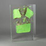 Wall Macha /cristal de synthèse et béton 25x17x10cm