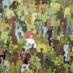 J+profondeur de champ mexicaine /acryl sur toile 114x146cm
