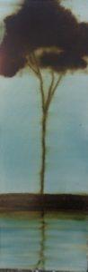 Silhouette n°14 - Glacis huile sur toile 90x30cm