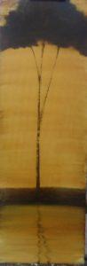 Silhouette n°9 - Glacis huile sur toile 90x30cm