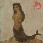 Sirène /tech mixte sur toile 41x33cm