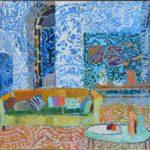Sofa in the big saloon /huile sur toile 70x80cm