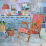 Stillife and Chair /huile sur toile 90x100cm