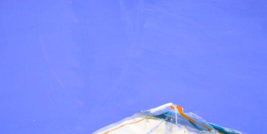 Surgissement de blanc /acrylique sur toile 80x80cm