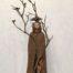 Sylvestre, grès et technique mixte, 75x36 cm