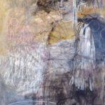 TEMPLI CUSTOS II /technique mixte /papier marouflé sur toile 130x89cm