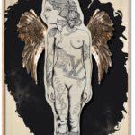 THEATRE VI /peinture sur bois 90x130cm