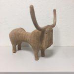 Grand taureau /grès chamotté 48x37x38cm