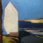 The house with the sea /huile sur toile 54x45cm