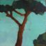 Un grand arbre /huile sur toile 30x30cm