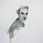 Yann /pastel sec et aquarelle sur papier 35x35cm