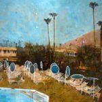 Ace motel pool /photo et huile sur toile 60x90cm VENDU