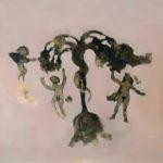 Adam et Eve /gravure sous verre