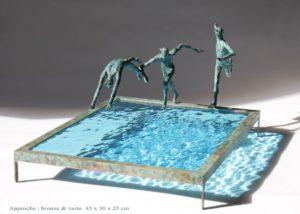 Approche /bronze et verre