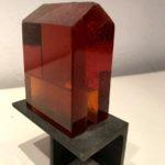 Cabanon ambre /verre-acier H13 L8,5cm