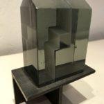 Cabanon gris /verre-béton H13 L8,5cm