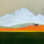Ciel d'orange /technique mixte sur toile 80x115cm - 2021