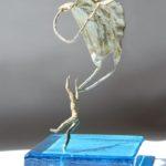 Egaré /bronze et verre