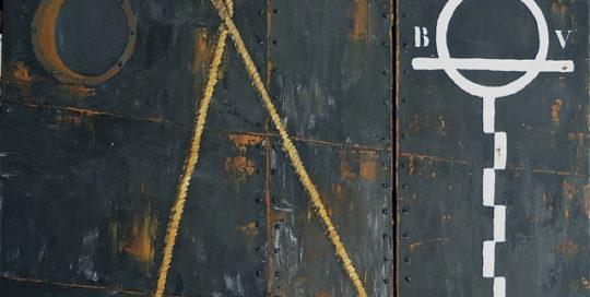 Veritas 2 /Dyptique /acryl-s-toile 80x80+80x40cm