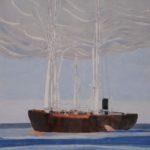 Farewell america /gouache-crayon/papier ciré 101x76cm