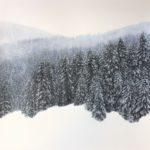 Février /pastel et acrylique 50x50cm hors passe-partout