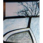 Fenêtre sur route,Bourgogne 46/photographie dépigmentée/PU/28x21cm encadrée