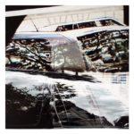 Fenêtre sur route, Ile de France 4/photographie dépigmentée/pièce unique/60x60cm encadrée