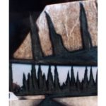 Fenêtre sur route,PACA 2/photographie dépigmentée/PU/23x21cm encadrée