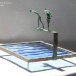 Fortune 3 /bronze et verre