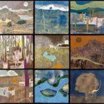 Foule de paysages 7 /acrylique sur toile 61x61cm