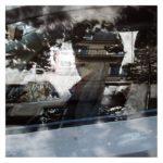 Habitants sur route 2/photographie dépigmentée/PU/60x60cm encadrée