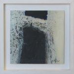 Image d'ombre IV /huile sur toile 17x17cm