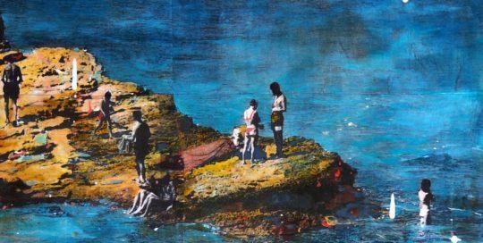 Island /tech mixte sur toile 60x60cm