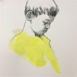 La bêtise/pastel et aquarelle/27x27cm