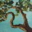 L'arbre qui danse 1 /huile sur toile 40x40cm