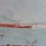Le quai rose /huile sur toile 30x40cm