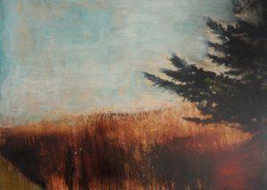 Les herbes hautes/technique mixte sur toile 80x80 cm