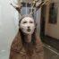 Petit esprit de la forêt /faïence et bois 31x17cm