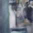 Esprit d'alcôve /huile sur toile 150x50cm