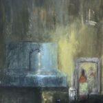 La pièce du 5ème /huile sur toile 116x81cm