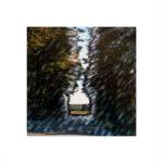 Paysage sur route 2/photographie dépigmentée/PU/30x30cm encadrée