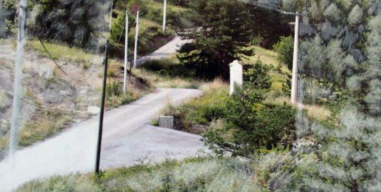 Paysage sur route 21 /30x30cm
