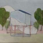 Petite maison /gouache-crayon/papier ciré 30,5x40,5cm