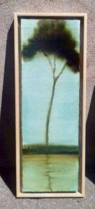 Petite silhouette /glacis huile sur toile 60x20cm (hors caisse américaine)