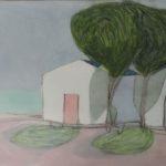 Petites maisons /gouache-crayon sur papier ciré 30,5x40,5cm