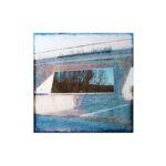 Pont 1/photographie dépigmentée/PU/30x30cm encadrée