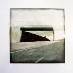 Pont 3/photographie dépigmentée/PU/30x30cm encadrée