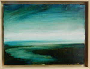 Promenade le long d'une rive ...hier N°48 /huile sur toile 32x24 cm