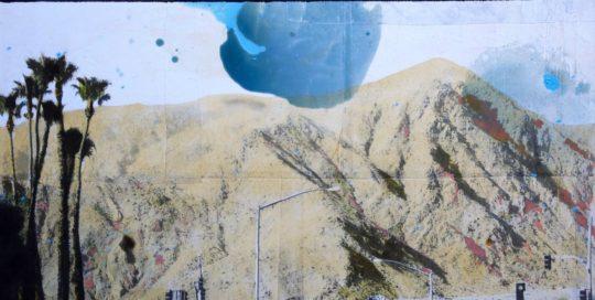 Road to the desert /tehnique mixte sur toile 60x80cm